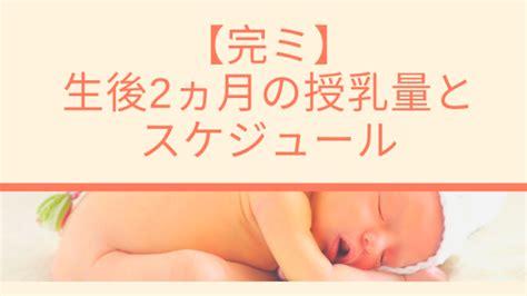2 ヶ月 赤ちゃん ミルク 量