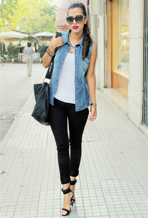 14 Fashionable Outfit Ideas with Denim Vest   Pretty Designs