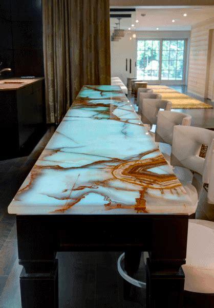 bar custom marble epoxy countertop unique copper onyx designs idea basement lit save email tweet