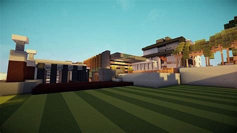 luxurious modern house  mansion minecraft building