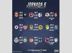 Fechas y horarios de la jornada 6 del Clausura 2018 de la