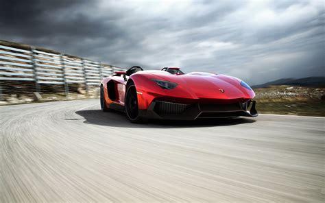 Red Lamborghini Aventador Car Wallpaper