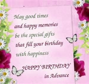 advance birthday wishes for friends and family happy birthday wishes and images
