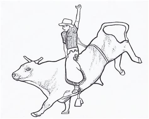 Bull Riding Coloring Pages 02 Mason Pinterest Bull