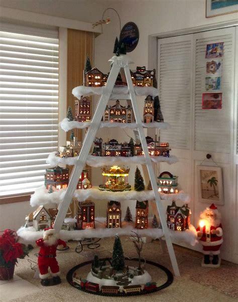 ladder christmas tree ideas  pinterest
