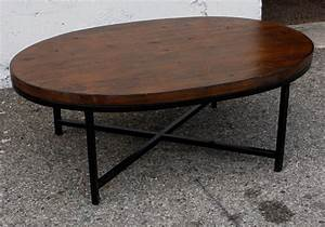 furniture rectangle dark brown wooden coffee tables with With oval wood and metal coffee table