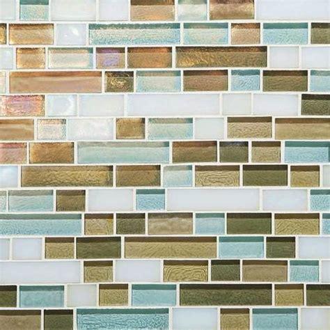 caribbean blend random linear mosaic tile contemporary