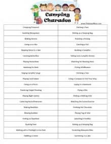 cing printable cing charades for all ages