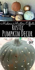 Rustic, Pumpkin, Decor, An, Easy, Way, To, Rust, Pumpkins