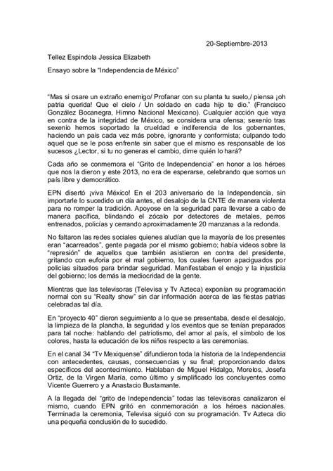 Un Resumen De La Independencia De Mexico by Ensayo Sobre La Independencia De M 233 Xico