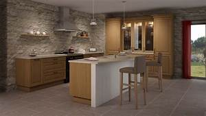 Cuisine bois naturel photo 2 15 pour les amoureux du for Idee deco cuisine avec table en bois brut