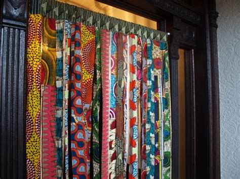 batik wax print window curtains  osxn  etsy