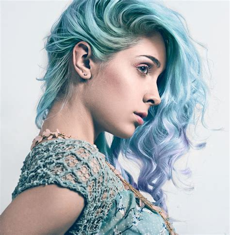 Pastel Blue Ombre Dip Dyed Hair Hairstyles Pinterest