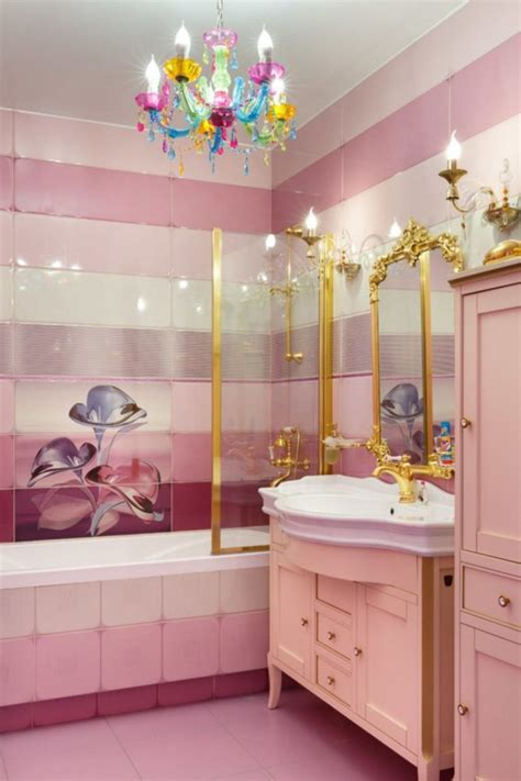 beautiful pink bathroom color schemes    home