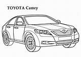 Coloring Toyota Camry Cars Factory Samochody Colorare Drawings Colorear Autos Hero Colorine Printable Auta Mopar Dibujos Coches Adult Tatuajes Kolorowanka sketch template
