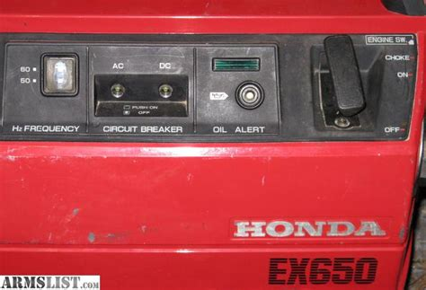 ARMSLIST   For Sale: Honda EX650 Generator   Hunting