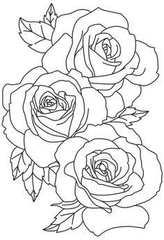 Related image | Rose tattoo stencil, Rose outline tattoo