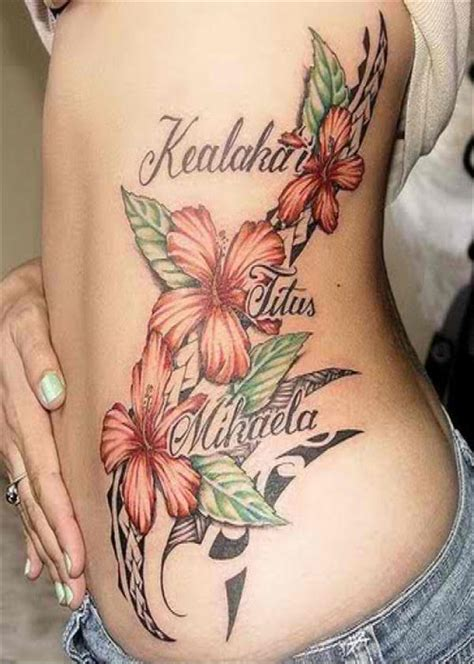 feminine flower tattoos  women