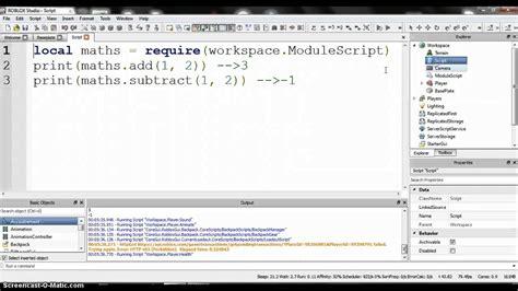 module script  roblox youtube