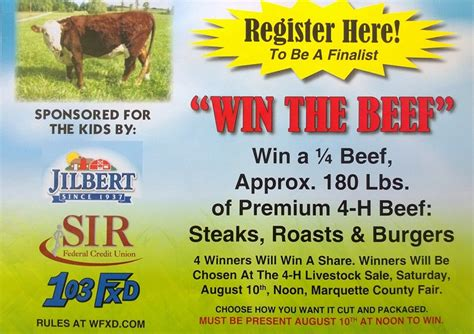 register   win  beef giveaway  premium beef