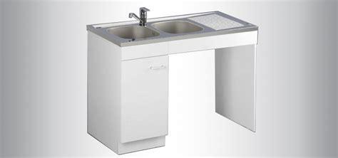 meuble cuisine sous evier 120 cm meuble de cuisine sous évier pmr aquarine pro