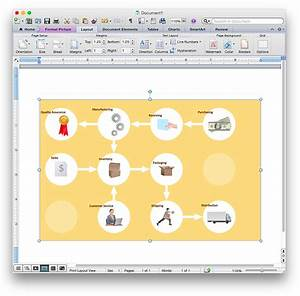 How To Add A Workflow Diagram To A Ms Word Document Using