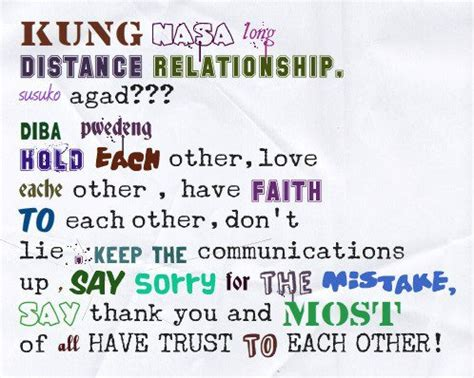 tagalog long distance relationship quotes quotesgram