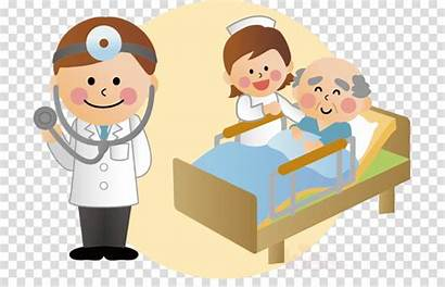 Animated Nursing Clipart Cartoon Care Hospital Transparent