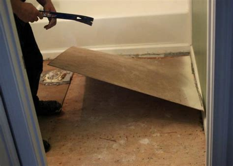 Remove Bathroom Tiles by How To Remove An Tile Floor The Tile