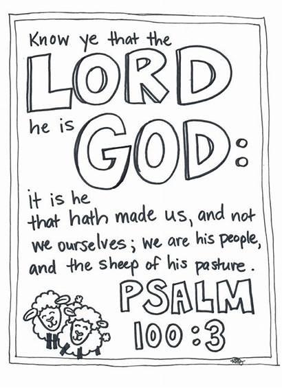 Coloring Pages Psalm Children Scripture
