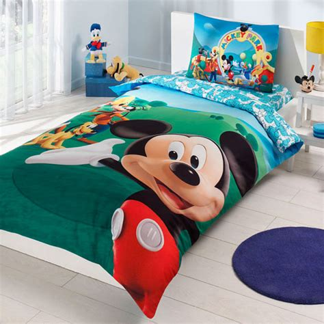 mickey mouse club house bedding set single by baharhometextile