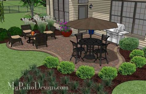 Small Patio Designs by Small Outdoor Living Patio Design Downloadable Plan