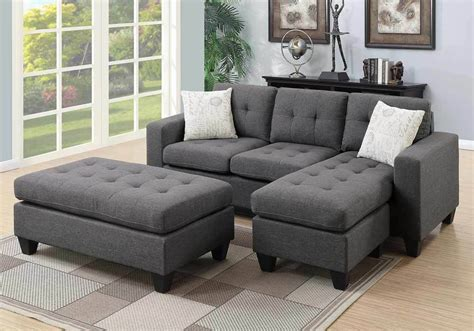 Small Loveseat With Chaise Lounge by Reversible Small Sectional Sofa Chaise Tufted Xl Ottoman