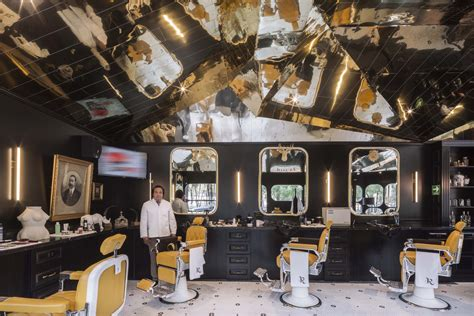 barberia barbershop royal british studio row barber tribute shops mexico archdaily