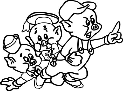 Three Little Pig Coloring Page Wecoloringpage com
