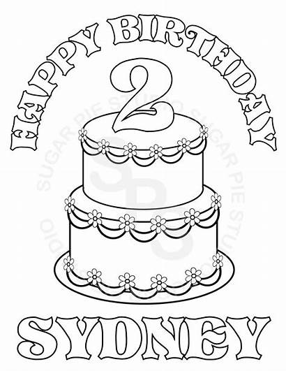 Personalized Coloring Birthday Pages Printable Custom Happy