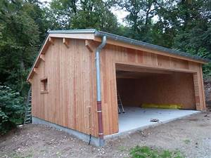 construction d39un garage en ossature bois caluire With construction d un garage en bois