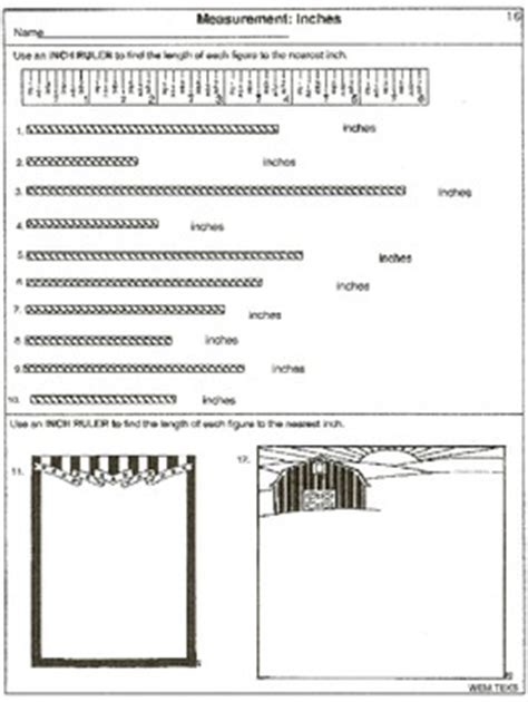 measurement read  ruler  printable worksheets