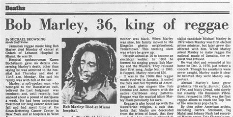 Reggae Music King Dies In Miami