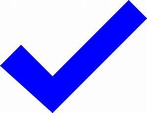 Tick (blue) Clip Art at Clker.com - vector clip art online ...