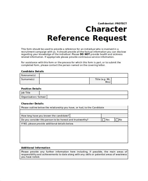 Reference Request by Sle Reference Request Form 10 Exles In Word Pdf