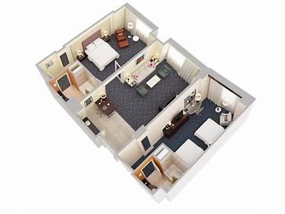 Floor Plans 3d Suites Bedroom Suite Hotel