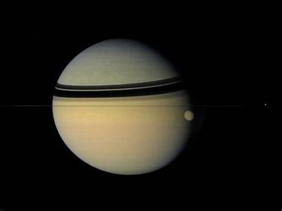 Saturn Titan Dione Di Space Anim Nasa