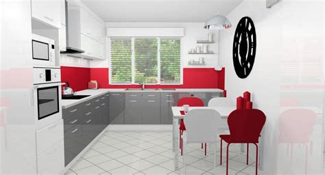 cuisine rouge  blanche  idees  conseils pour lagencer