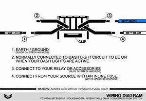 Isuzu Dmax  U0026 Holden Colorado Push Switch Wiring Diagram