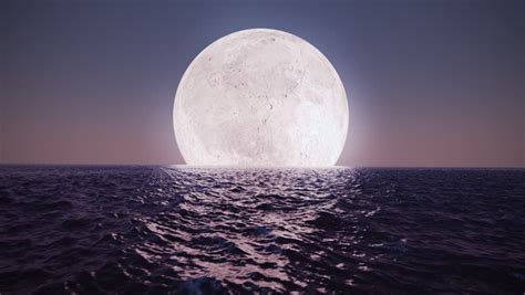 animation presents bright moon reflecting stock footage video  royalty