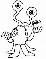 Alien Clipart Coloring Pages Printable Internet Designs sketch template