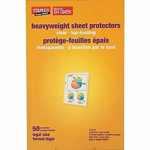 staplesr legal size sheet protector mfr39s 75287 clear With staples legal documents