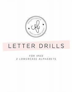 letter drills for ipad chalkfulloflove With letter drills