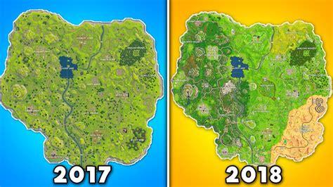 evolution   entire fortnite map fortnite